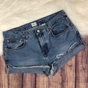 Vintage Calvin Klein distressed highwaisted short
